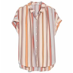 NWT Madewell Towel Stripe Central Shirt